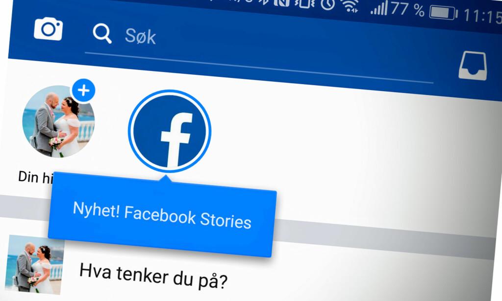 LANSERT I NORGE: Facebook har nå lansert «Din historie» i Norge. Foto: Pål Joakim Pollen