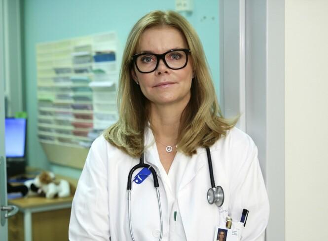 MANGE SYKE BARN: Overlege Astrid Rojahn forteller at de har hatt spesielt mange innleggelser av barn som er smittet av RS-virus i vinter. Foto: Ingar Storfjell / NTB Scanpix