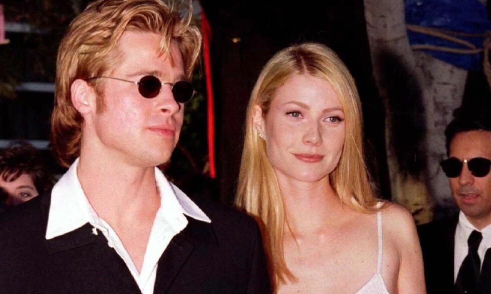 GAMMEL FLAMME: Filmstjerna Brad Pitt har vært i flere profilerte forhold - mot slutten av 1990-tallet var han eksempelvis forlovet med Gwyneth Paltrow (t.h.). Men før den tid var han sammen med en annen skuespiller - som var ti år yngre enn ham. Foto: NTB scanpix