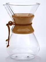 Chemex lager kaffe, men er også pen å se på. Foto: Produsenten