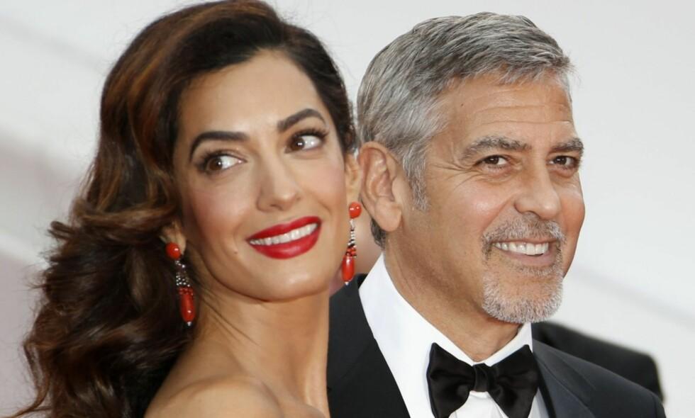 HAR TERMIN I JUNI: Til sommeren blir Amal og George Clooney foreldre for første gang. Foto: NTB Scanpix.