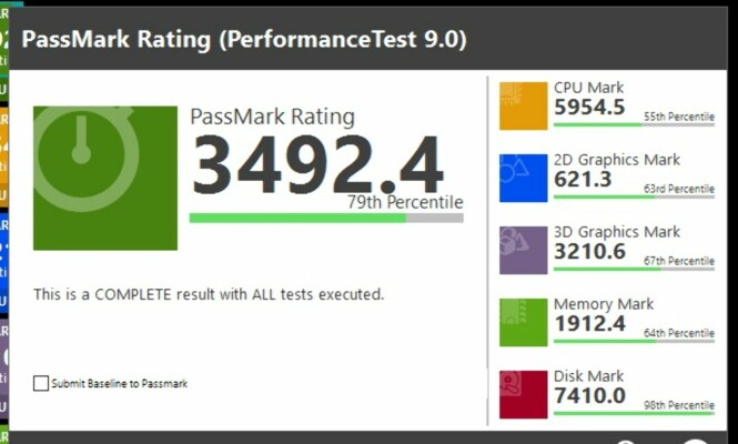 <strong>YTER GODT:</strong> HP Pavilion Wave scorer bedre enn 79 prosent av PC-ene som har kjørt tester gjennom PassMark. Sjekk spesielt Disk Mark, der den ligger helt i toppen. Skjermdump: Dinside