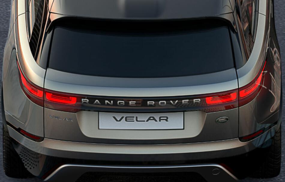 NYTT FAMILIEMEDLEM: Ranger Rover har nå sluppet nyheten om at det kommet er nytt medlem i Range Rover-familien. Navnet er Velar og den vil antakeligvis bli en mellomstor luksus-SUV. Foto: Land Rover