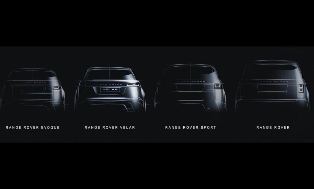 """NEST MINST: Velar vil fylle det Land Rover selv har omtalt som et """"hvitt rom"""", og bli plassert mellom lillebror Evoque og storebror Sport. Foto: Land Rover"""