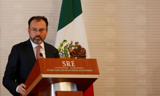 Mexico's Foreign Minister Luis Videgaray addresses the audience during a meeting between Mexico and the United Nations on human rights in Mexico City, Mexico February 22, 2017. REUTERS/Jose Luis Gonzalez