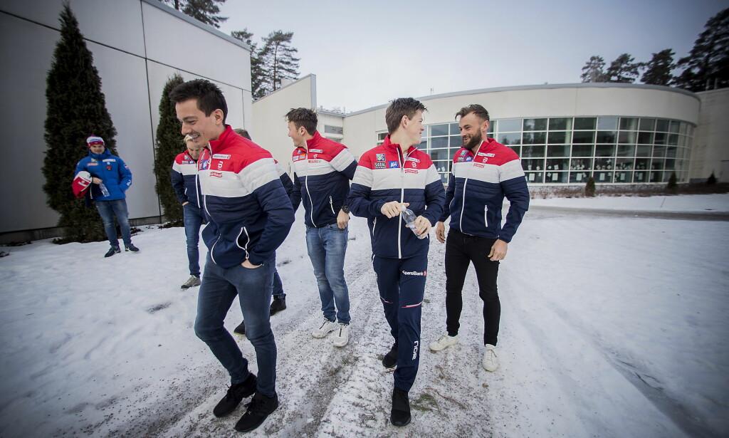 ANKERANSVARET: Finn Hågen Krogh, Johannes Høsflot Klæbo og Petter Northug vil alle være Norges ankermann på VM-stafetten i Seefeld. Foto: Bjørn Langsem / Dagbladet
