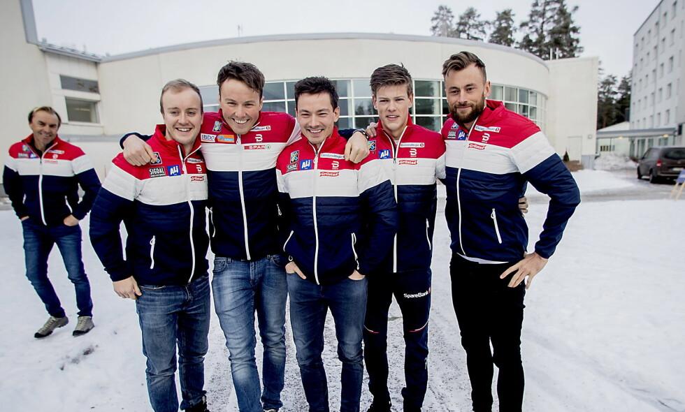 ALLE UTENOM ÉN: Samtlige av de hurtige allroundsgutta havnet på sprintlandslaget - bortsett fra Emil Iversen.  Foto: Bjørn Langsem / Dagbladet