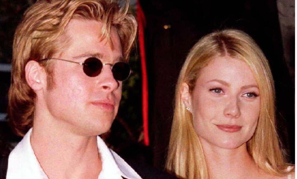 <strong>GAMMEL FLAMME:</strong> Filmstjernen Brad Pitt har vært i flere profilerte forhold - mot slutten av 1990-tallet var han eksempelvis forlovet med Gwyneth Paltrow (t.h.). Men før den tid var han sammen med en annen skuespiller - som var ti år yngre enn ham. Foto: NTB scanpix
