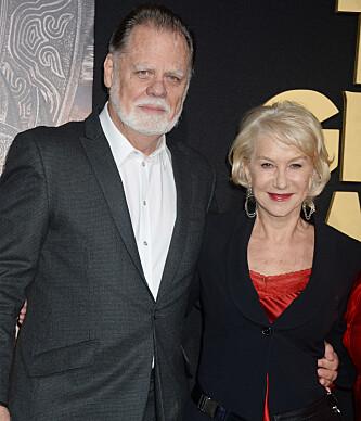 <strong>STØDIG PAR:</strong> Helen Mirren og Taylor Hackford har snart vært gift i 20 år. Foto: NTB scanpix