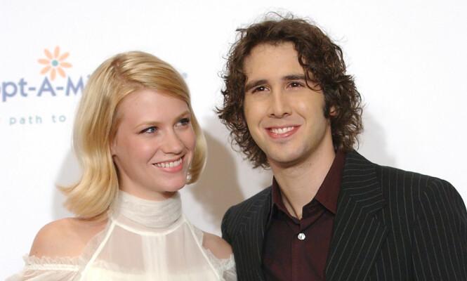 <strong>OGSÅ EKSER:</strong> Etter at January Jones datet Ashton Kutcher, var hun i et forhold med artist Josh Groban. De to var sammen fra 2003 til 2006. Foto: Rene Macura/ AP/ NTB scanpix