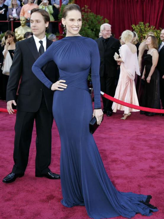 <strong>IKONISK:</strong> Hervé L. Leroux designet Hilary Swanks Oscar-kjole i 2005. Foto: NTB scanpix