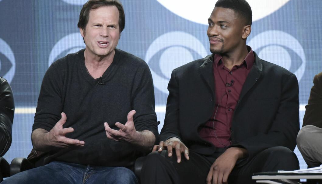 <strong>TRAINING DAY:</strong> Bill Paxton og Justin Cornwell på et pressetreff i forbindelse med innspillingen av Training Day. FOTO: NTB Scanpix