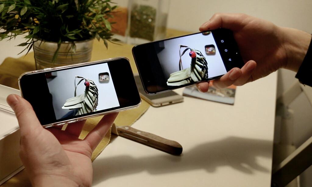 MINITEST: Huaweis P10 klarte seg godt mot iPhone 7. Foto: Ole Petter Baugerød Stokke