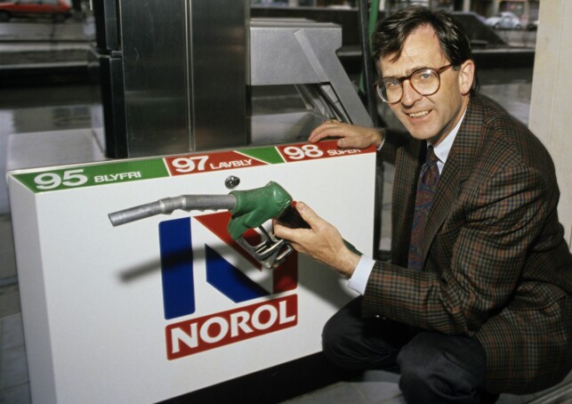 SLUTT FOR Noroil- og Statoil-stasjonene: Konserndirektør i Statoil, Harald Norvik, proklamerte i 1990 at selskapet gjennom Noroil og bensinstasjonene skulle opp i eliten av verdens oljeselskaper. Foto: Per Svensson / Aftenposten