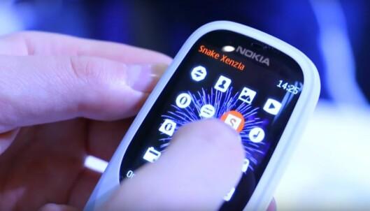 Nokia 3310 gjenopplives. Vi har prøvd den