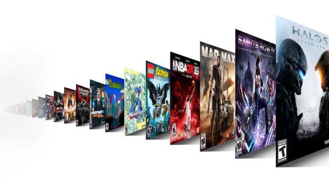Her er noen av spillene som kommer til å være med i Game Pass-tjenesten fra Microsoft. Foto: Microsoft