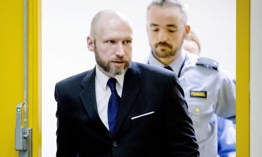 Under Breiviks første rettssak ble han først vurdert som utilregnelig. Det ble satt nye sakkyndige på saken, og han ble regnet som strafferettslig tilregnelig. Bilde fra ankesaken i januar. Foto: Bjørn Langsem / Dagbladet