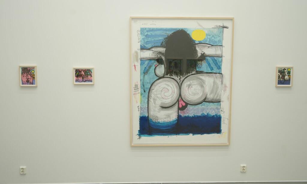KUNST: Carroll Dunhams kunst fokuserer seg i stor grad rundt menneskekroppen. Foto: Per Ervland
