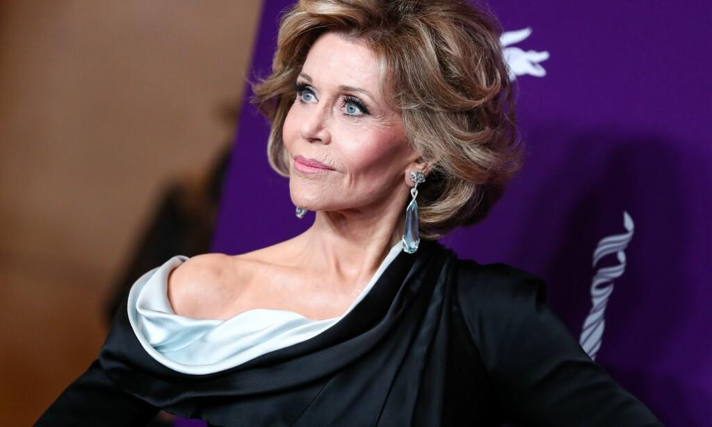 STJERNE: Jane Fonda kan være hard i sin kritikk, og viste ingen nåde da hun ble intervjuet tidligere denne uka. Foto: NTB scanpix