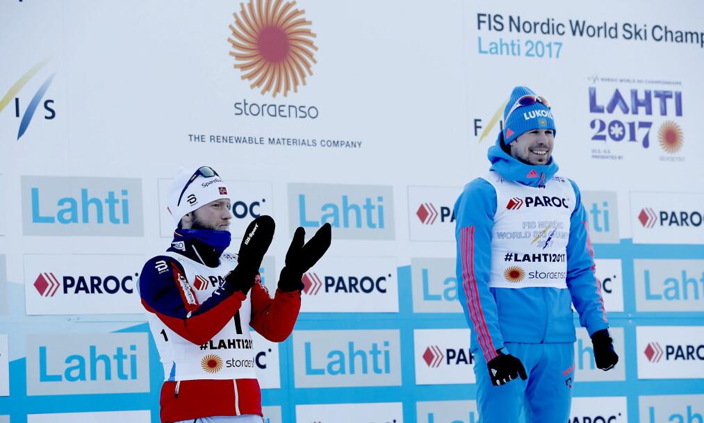 <strong>SUKSESS:</strong> Sergej Ustjugov har vært VM-kongen i Lahti.  Foto:  Bjørn Langsem / Dagbladet
