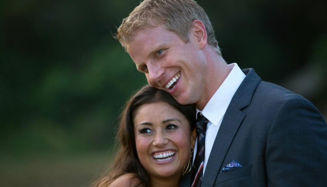 <strong>FÅTT BARN:</strong> Sean Lowe og Catherine Giudici giftet seg i januar i 2014, og har siden fått et barn sammen. I fjor uttalte paret overfor Entertanment Weekly at de ønsker seg flere barn i fremtida. Foto: TVNorge