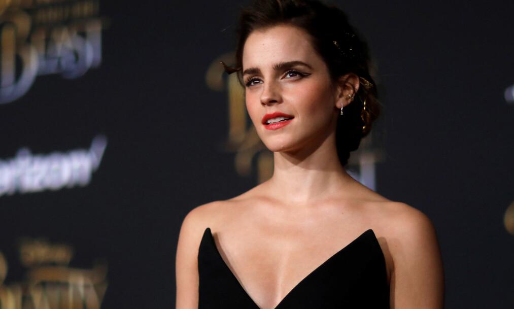 <strong>HARDT UT:</strong> Filmaktuelle Emma Watson blir kritisert av flere for å være femnist, men samtidig vise fram brystene sine. Nå slår stjerna tilbake. Foto: &nbsp; REUTERS/Mario Anzuoni, NTB scanpix