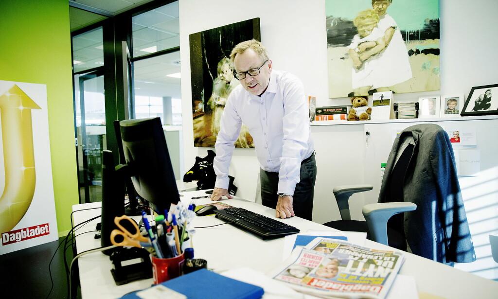 TYDELIG: Sjefredaktør i Dagbladet, John Arne Markussen har vært tydelig i debatten om NRKs rolle. Foto: Bjørn Langsem