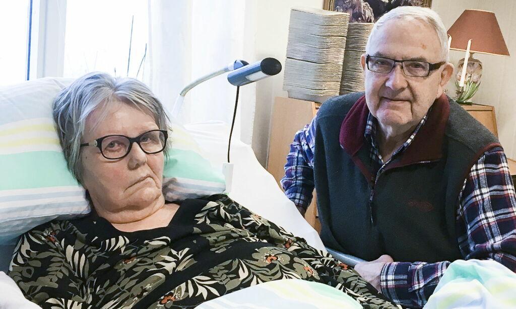 image: En sykehusinfeksjon tvang Karin (77) til ti operasjoner. Nå er hun lenket til senga
