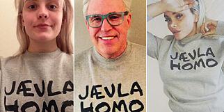 image: Derfor går alle kjendisene i «Jævla homo»-genser