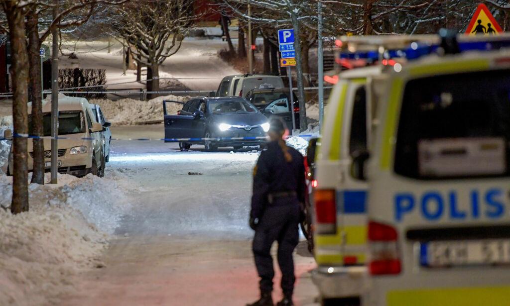 image: Da den utpekte gjenglederen ble skutt i hodet i går, steg antall drap i Stockholm til fem. På to døgn