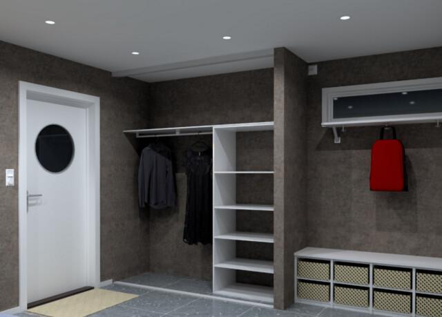 Modernistisk Billig garderobe - DinSide ZP-01