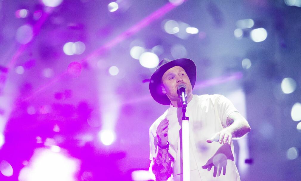 EN VERDIG OG RIKTIG VINNER: Jowst vant den norske finalen i Melodi Grand Prix 2017 lørdag kveld i Oslo Spektrum. Foto: Fredrik Varfjell / NTB scanpix