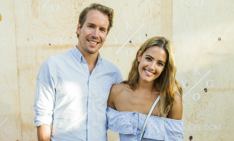 FORELDRE: Emil Hegle Svendsen (33) og Samantha Skogrand (29) ble foreldre til en liten gutt for tre uker siden. Nå avslører de babynavnet. Foto: NTB Scanpix