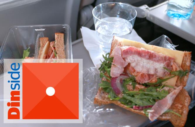 <strong>SANDWICH:</strong> Tørt brød som lukter mugg, dvask ruccola og null smak. Dette er for dårlig! Foto: Hanna Sikkeland
