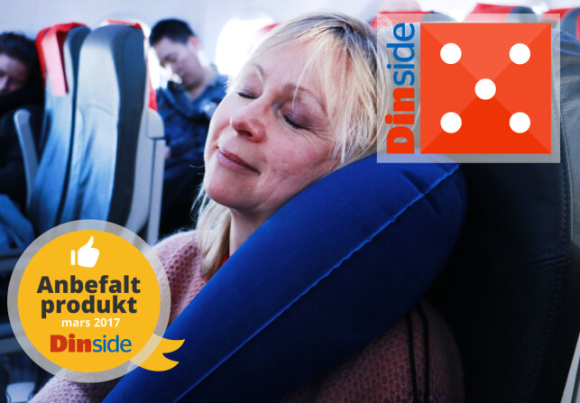 Travelrest Ultimate Inflatable Pillow. Foto: Hanna Sikkeland