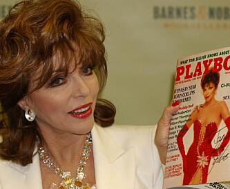 AVBILDET: Joan Collins er bare en av en drøss av store stjerner som har vært avbildet på forsiden til det legendariske magasinet. Foto: NTB Scanpix