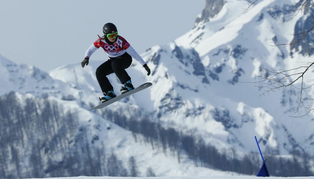 STJERNE: Helene Olafsen er en av Norges beste kvinnelige snøbrett-kjørere. Foto: NTB Scanpix