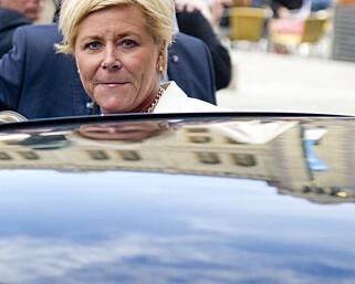 – Reduserer byråkrati: Fremskrittspartiets leder og finansminister Siv Jensen. Foto: Jon Olav Nesvold / NTB scanpix