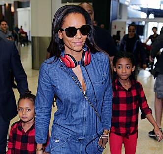 <strong>TREBARNSMOR:</strong> Melanie Brown avbildet med sine to yngste barn, Madison Brown Belafonte og Angel Iris Murphy Brown. Foto: NTB Scanpix