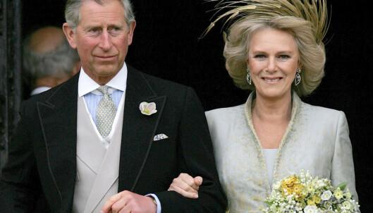 <strong>OMSTRIDT:</strong> Prins Charles og Camilla avbildet på bryllupsdagen sin, 9. april 2005. Foto: Alastair Grant / AP / NTB scanpix