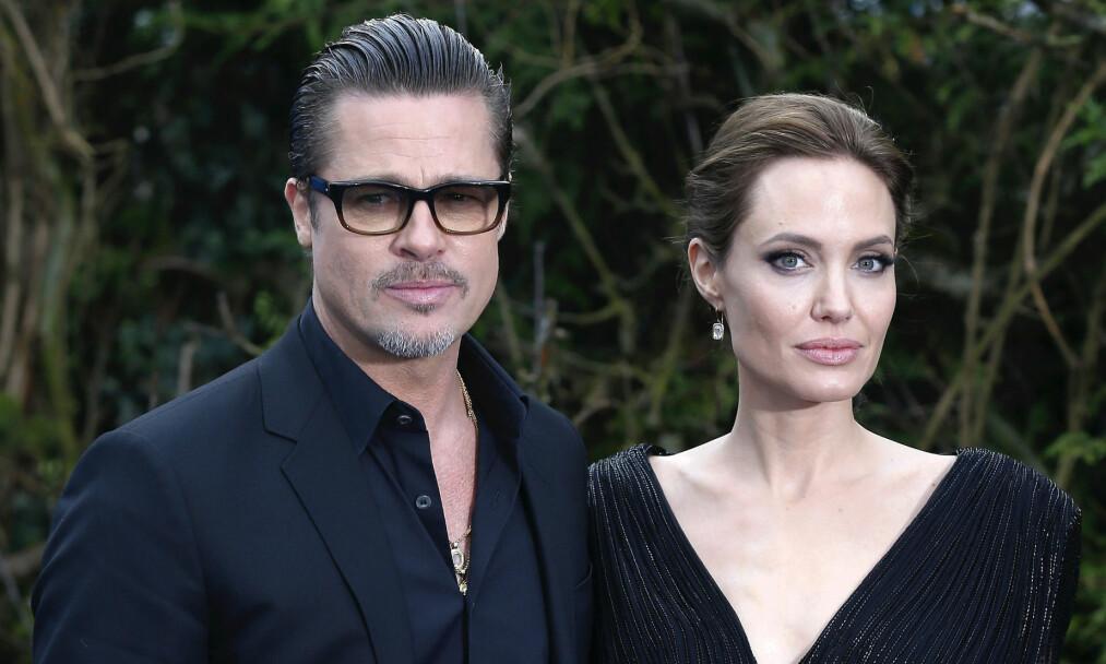 DRAMATISK BRUDD: I september i fjor ble det kjent at Brad Pitt og Angelina Jolie skal skilles, og tiden etter har vært stormfull for dem begge. Foto: NTB scanpix