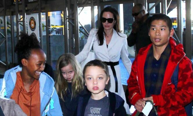ALT FOR BARNA: Brad og Angelina skal ha bestemt seg for å legge uenighetene til side for barnas skyld. Foto: NTB scanpix