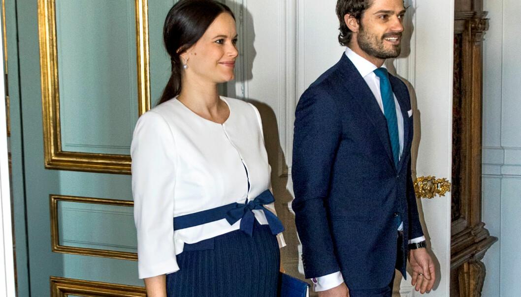 FORRIGE GANG: Prinsesse Sofia og prins Carl Philip avbildet sammen i mars 2016, en drøy måned før prins Alexander ble født. Foto: Reuters / NTB scanpix