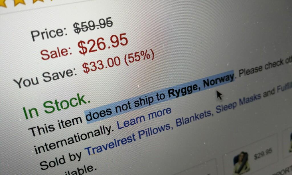 AIAI: Mang en nordmann har opplevd at en vare ikke kan sendes til Norge. Shippn opptrer som mellommann og gir deg en adresse i landet du bestiller fra. Foto: Pål Joakim Pollen