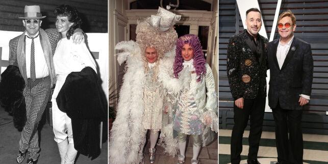 image: Elton John 70 år: Var forlovet og gift med to ulike kvinner. Så møtte han sitt livs kjærlighet