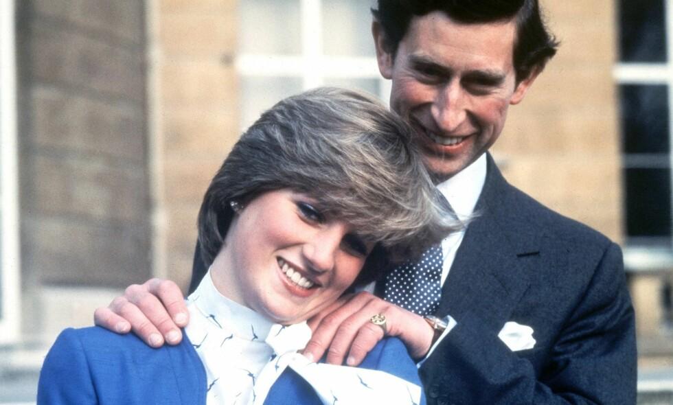 MER MASKULIN: Prins Charles og prinsesse Diana var like høye. Det ser imidlertid ut til at Kensington Palace gjennom mange år har publisert bilder der det ser ut til at prins Charles er mye høyere enn prinsesse Diana. Bilde fra 1981. Foto: NTB Scanpix.