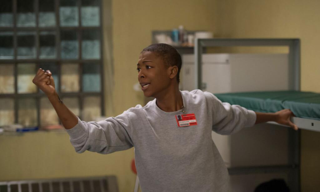GIFT: I serien spiller Samira Wiley karakteren Poussey Washington. Foto: JoJo Whilden / Netflix