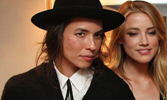 <strong>EKSEN:</strong> Amber Heard sammen med sin daværende kjæreste, Tasya van Ree, i 2010. Foto: CelebrityVibe/ Splash News/ NTB scanpix