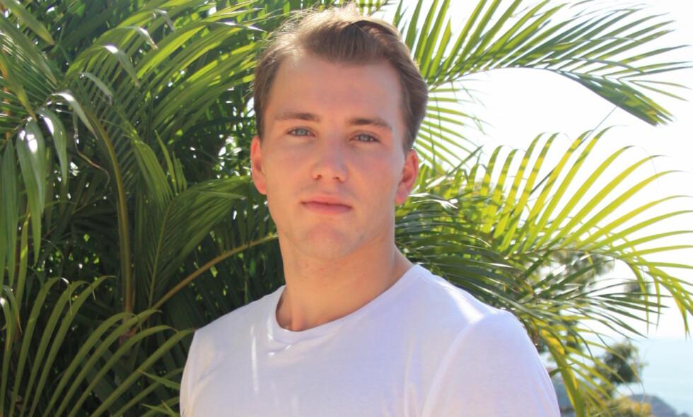 OPPLEVER NETTHETS: Grunde Myhrer er en av deltakerne i årets sesong av «Paradise Hotel». Nå forteller han at han har fått mye negativ oppmerksomhet etter deltakelsen. Foto: Kine Falch