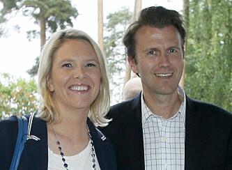 <strong>TREBARNSFORELDRE:</strong> Sylvi Listhaug og ektemannen Espen Espeset går en travel tid i møte. Foto: Cornelius Poppe / NTB Scanpix